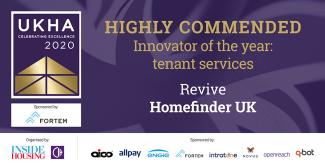 Revive awarded Highly Commended Innovator of the Year: Tenant Services by UK Housing Awards
