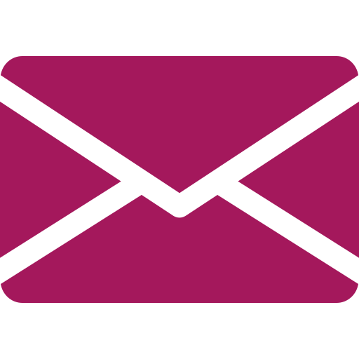 purple icon of a envelope